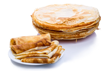 Stack of thin pancakes