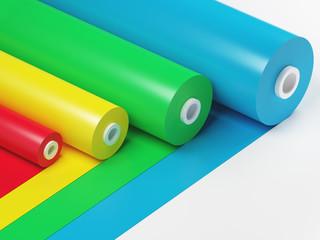 Rotoli colorati, scelta di tinte o carte da regalo