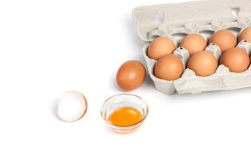 Chicken eggs in pulp