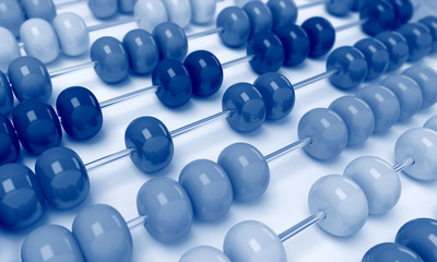 Close up abacus business view