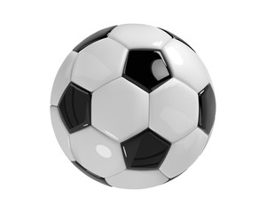 Realistic soccer ball or football ball on white background. 3d Style vector Ball.