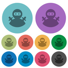 Ninja avatar color darker flat icons
