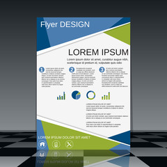 Professional business flyer vector design template