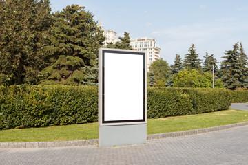 Blank advertising vertical street billboard poster