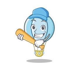 Playing baseball air balloon character cartoon