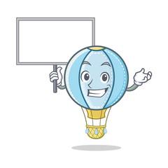 Bring board air balloon character cartoon