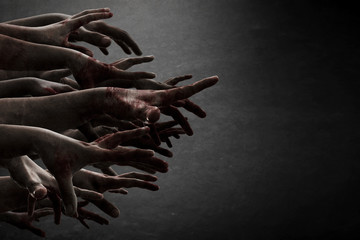 Zombie hands Wall mural