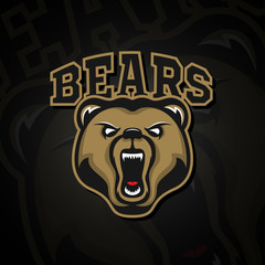 Logo grizzly bear logo for a sport team