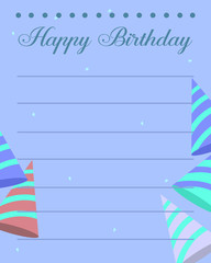 Design greeting card birthday party