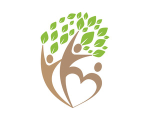 trees leaf nature man silhouette icon image vector