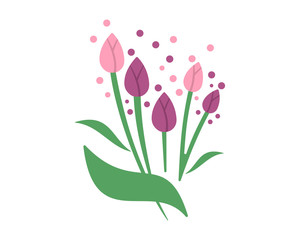 tulip flower flora plants nature icon image vector