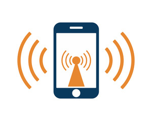 signal hand phone cellular gadget technology icon image vector