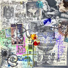Manoscritti alchemici e misteriosi con graffiti,schizzi,disegni e simboli esoterici,astrologici e alchemici