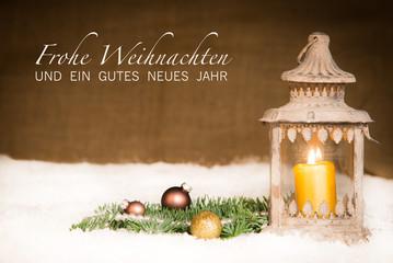 weihnachtskarte mit schnee