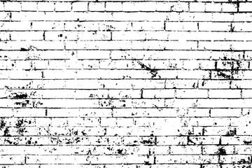 Urban style bricks wall texture overlay. Vector shape.