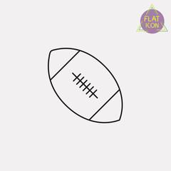 american football ball line icon