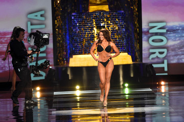 Miss North Dakota Cara Mund competes in the swimsuit competition of the Miss America competition in Atlantic City
