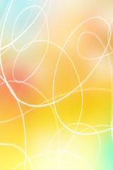 handgemalte Kringel auf regenbogenfarbenem Hintergrund