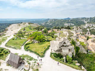 Lower courtyards in Les Baux-de-provence in France