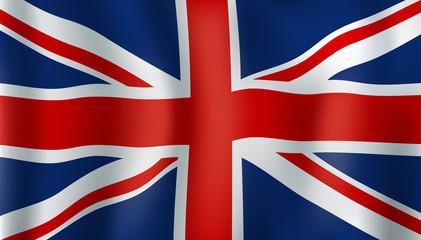 Grean Britain or Union Jack 3d flag
