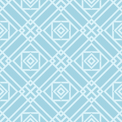 Geometric pattern for wallpapers. Blue and white seamless background