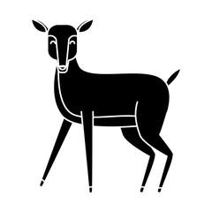 Deer animal cartoon icon vector illustration graphic design