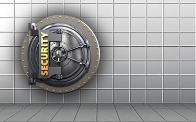 3d security door blank
