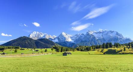 Herbst in Oberbayern am Karwendelgebirge