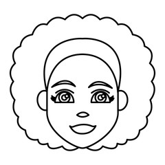 Young woman cartoon icon vector illustration graphic design