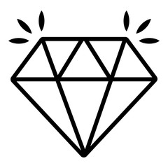 Mine diamond icon , outline style