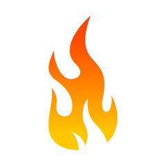 Flat color flame icon