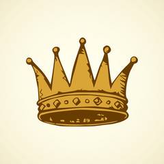 Crown. Vector drawing