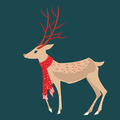 Christmas Magic Deer and Forest