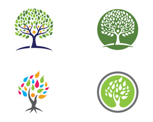 Logos of green leaf ecology nature element vector icon