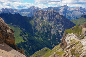 View of Dolomites from Pass de Ombretta