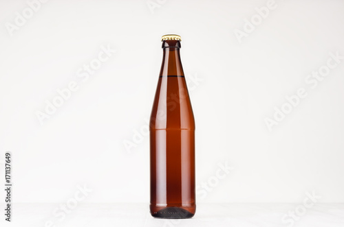 Bottle Template | Brown Nrw Beer Bottle 500ml Mock Up Template For Advertising