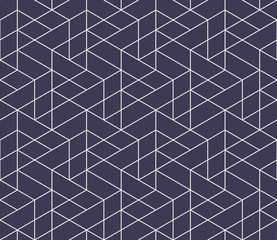abstract seamless geometric minimal grid pattern
