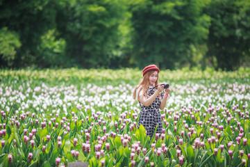Little Children Taking Photo by mirrorless camera