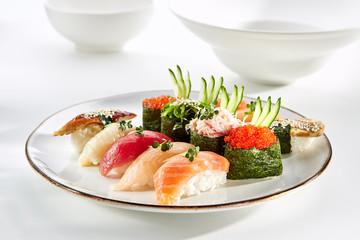 Exquisite Asian menu in the restaurant