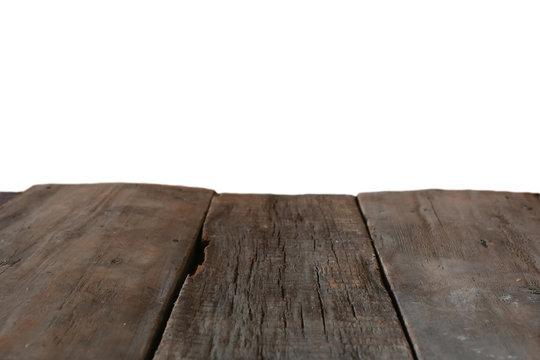 wooden platform background isolated