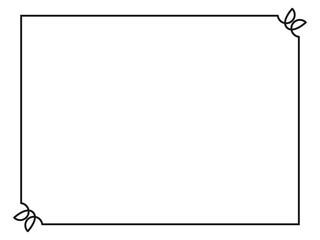 Frame simple border horizontal.