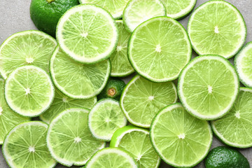 Slices of lime, closeup