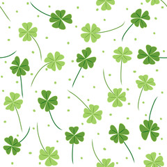 Four leaf colver card design.
