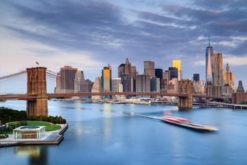 United States, New York City, Manhattan, Brooklyn Bridge