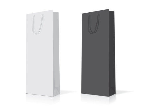 paper bag for your design EPS10 Vector Mock up easy to change color