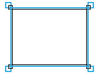 Frame simple border horizontal.