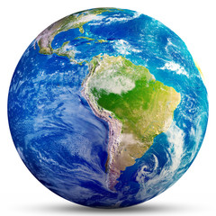 Wall Mural - Planet Earth - South America 3d rendering