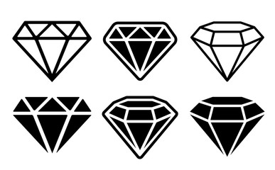 Diamond Icon set - stock vector.