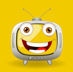 Happy Cartoon TV Vector