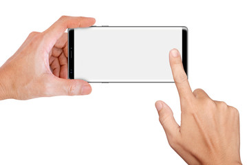 Hand Hold Big Screen Smartphone for snapping a picture